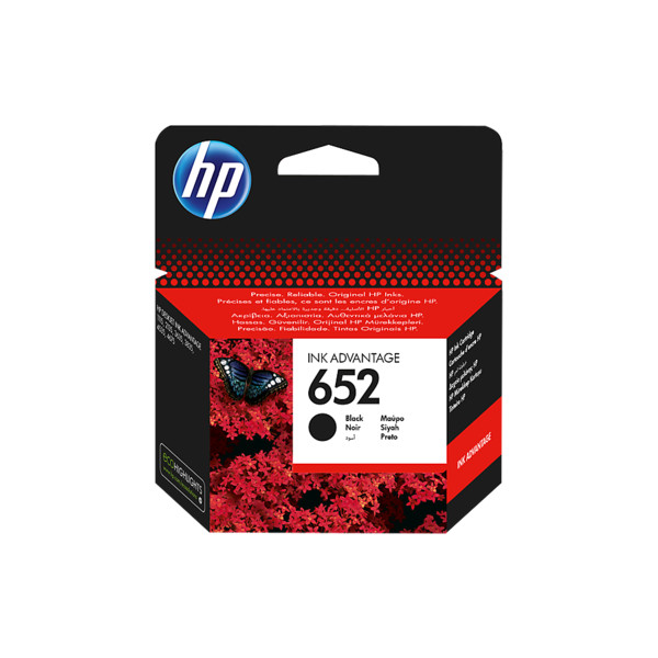 HP Oryginalny wkład atramentowy Ink Advantage 652 CZARNY
