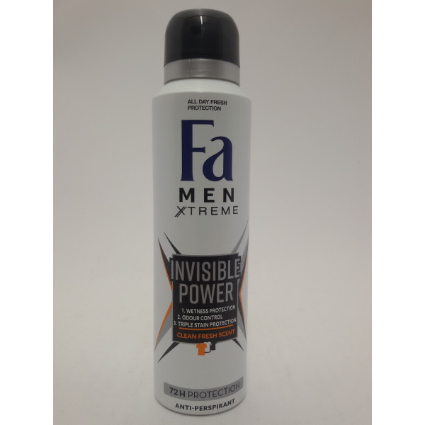 FA MEN XTREME 150ML INVISIBLE POWER ANTIPERSPIRANT