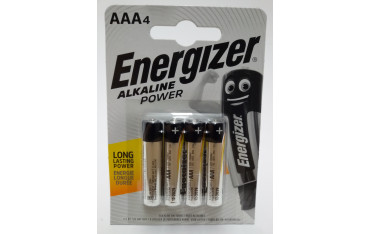 ENERGIZER ALKALINE POWER BATERIA 1,5V AAA LR03 4SZT W OPAKOWANIU