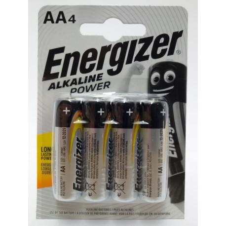 ENERGIZER ALKALINE POWER BATERIA 1,5V AA LR6 4SZT W OPAKOWANIU