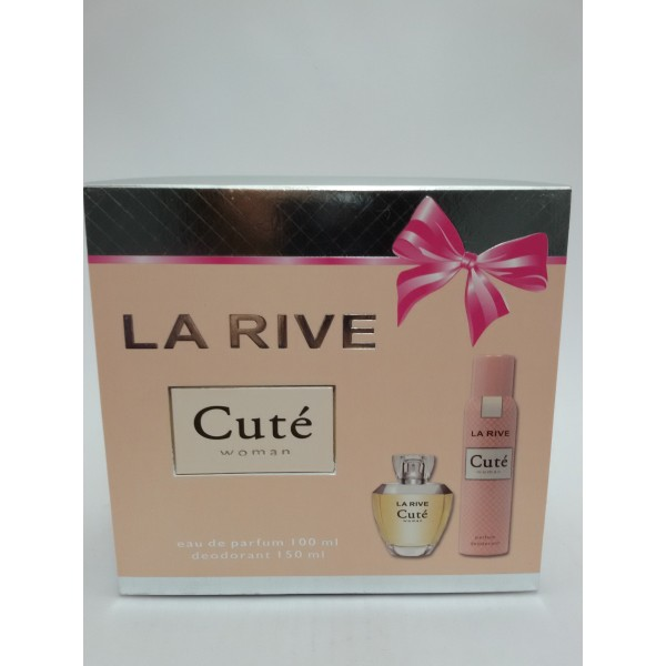 LA RIVE CUTE WOMAN ZESTAW DAMSKI EDP 100ML+DEO SPRAY 150ML