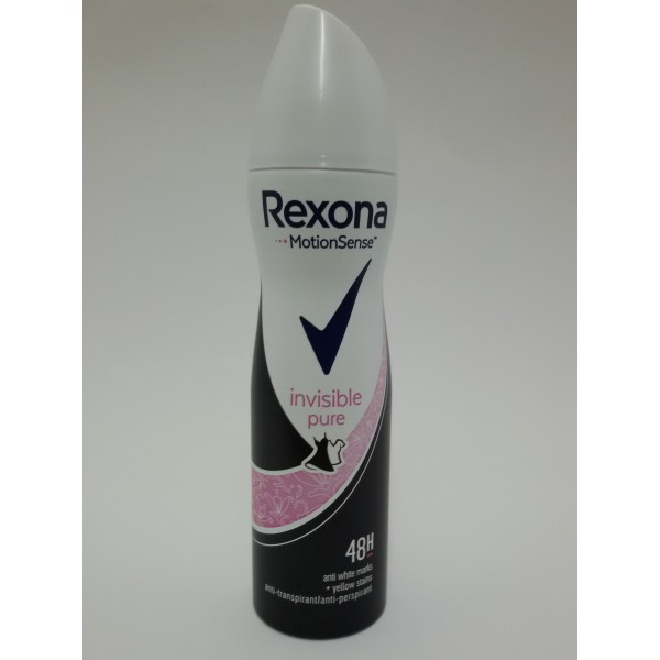 REXONA INVISIBLE PURE SPRAY 150ML ANTYPERSPIRANT DLA PAN