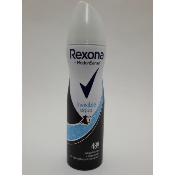 REXONA INVISIBLE AQUA 150ml ANTYPERSPIRANT DLA PAŃ