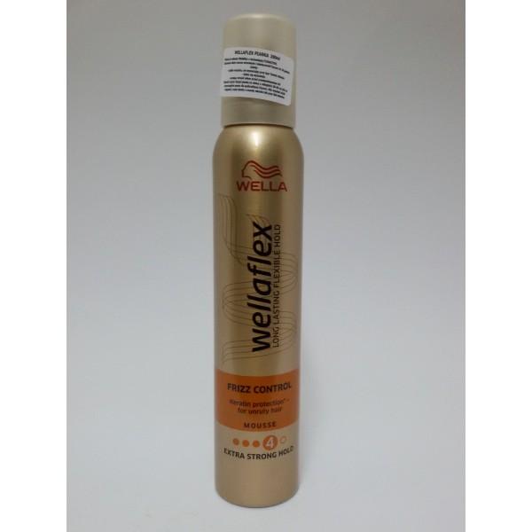 Wellaflex frizz control extra strong hold 200 ml pianka do włosów
