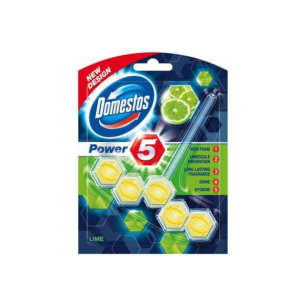 Domestos Power 5 Lime Kostka toaletowa 55 g LIME