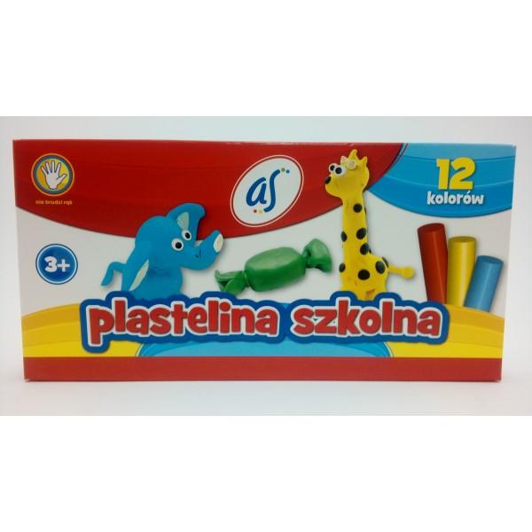PLASTELINA 12KOL. AS