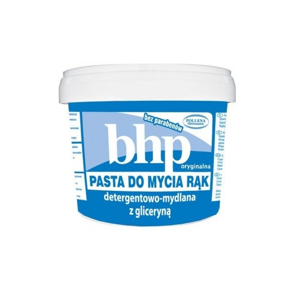 BHP pasta do mycia rąk detergentowo-mydlana z gliceryną 500g Pollena