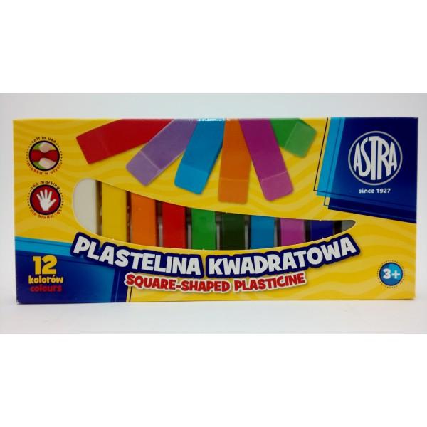 PLASTELINA KWADRATOWA 12KOL. ASTRA