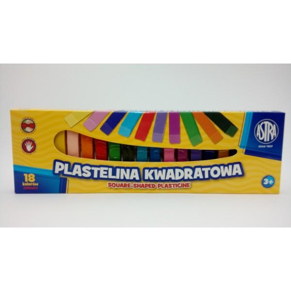 PLASTELINA KWADRATOWA 18KOL. ASTRA