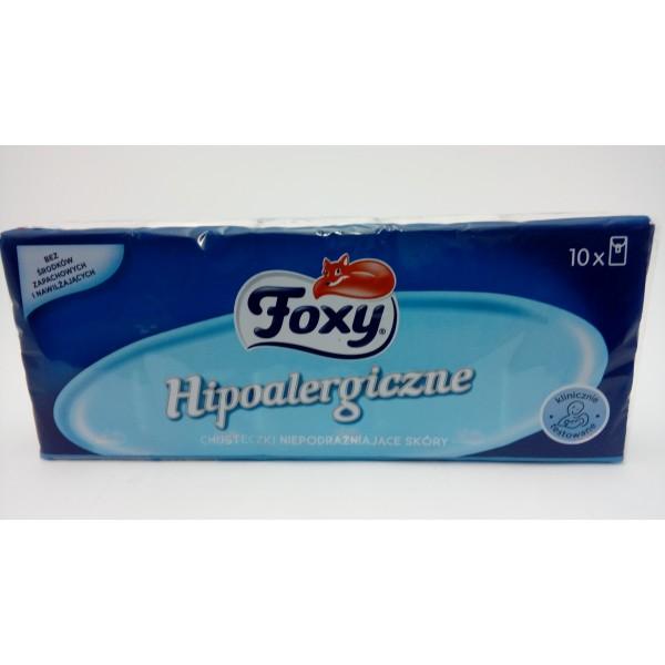 FOXY HIPOALERGICZNE CHUSTECZKI HIGIENICZNE 10x9szt