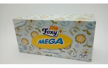 FOXY MEGA CHUSTECZKI HIGIENICZNE 200 sztuk PUDEŁKO