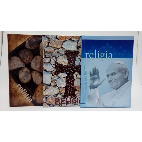 BRULION A5 64 KARTKOWY W KRATĘ DO RELIGII CIENIOWANY.