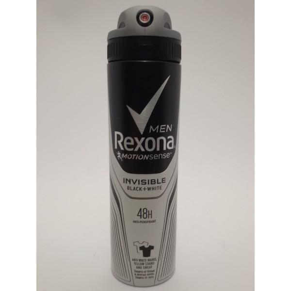 REXONA DEZODORANT MĘSKI 150ml.INVISIBLA BLACK&WHITE