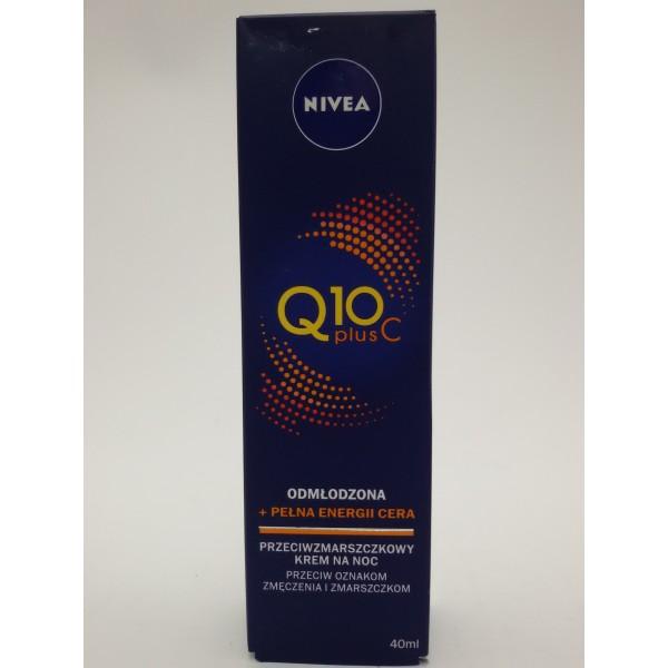 NIVEA VISAGE KREM ENERGETYZUJĄCY NA NOC Q10+WITAMINA C 40ml.