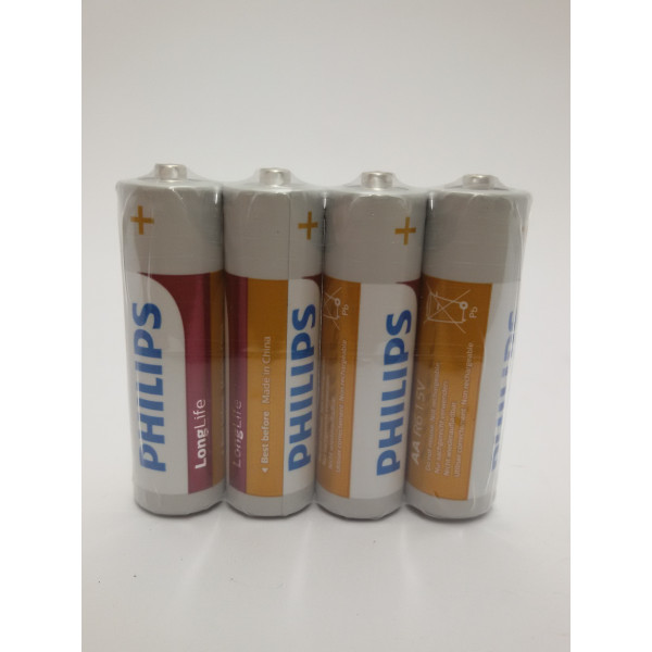 BATERIE PHILIPS LONG LIFE AA R6 1,5V. 4szt.