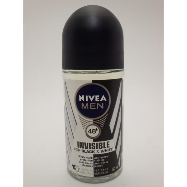 NIVEA MEN INVISIBLE FOR BLACK&WHITE 50ml. anti-perspirant w kulce.